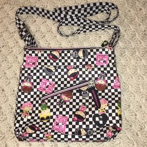 HARAJUKU LOVERS Hipster Checkered Crossbody USED